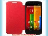 Motorola Flip Shell Case Cover - Funda para móvil Motorola Moto G rojo