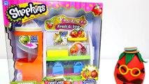 Shopkins Easy Squeezy Fruit & Veg Stand + 15 Play Doh Surprise Eggs with Season 2 Shopkins