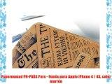 Papernomad PN-PARS Pars - Funda para Apple iPhone 4 / 4S color marrón