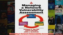 Download PDF  Managing A Network Vulnerability Assessment FULL FREE