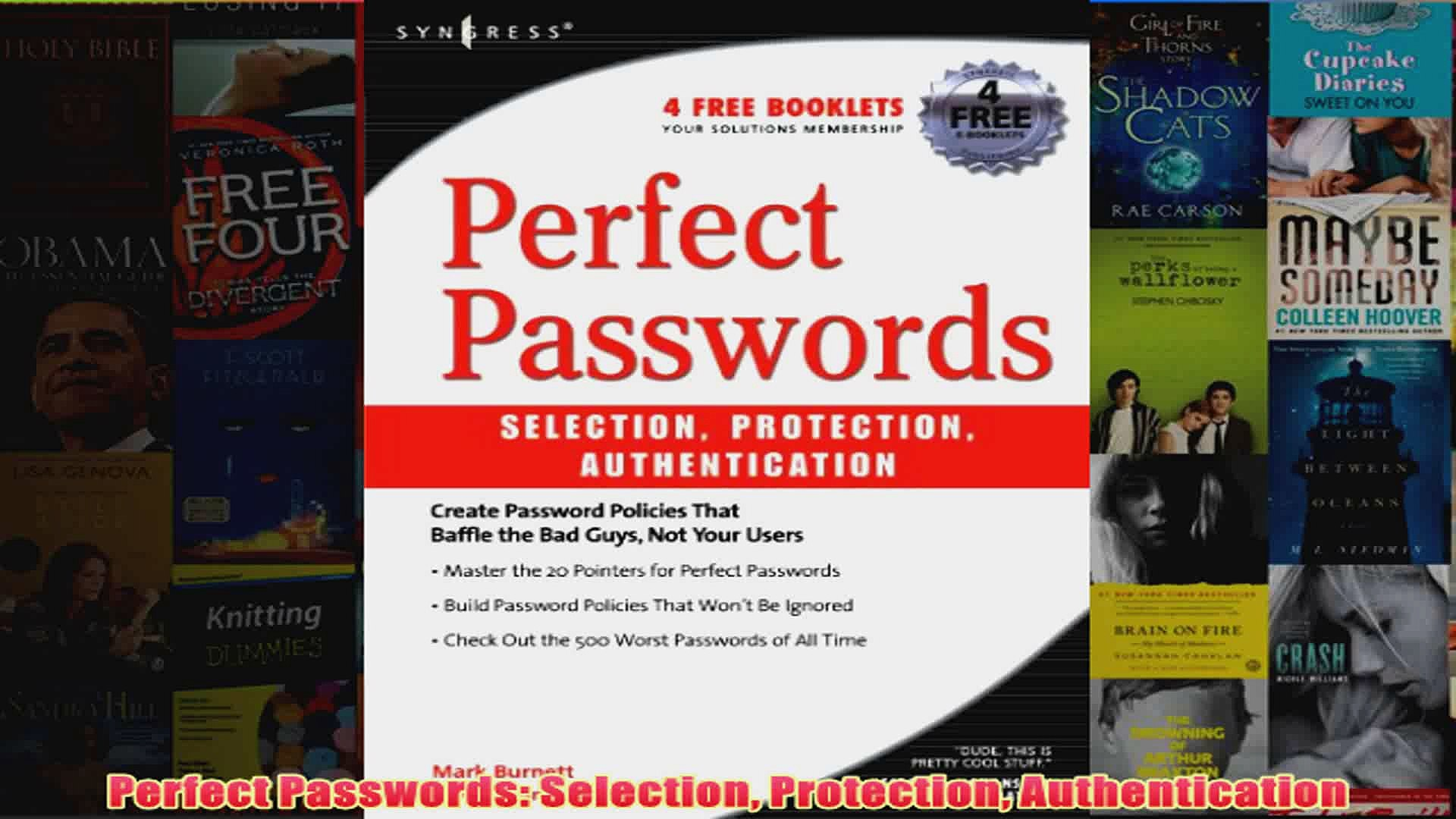 Download PDF Perfect Passwords Selection Protection Authentication FULL FREE