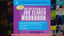 Download PDF  The Five OClock Club Job Search Workbook FULL FREE