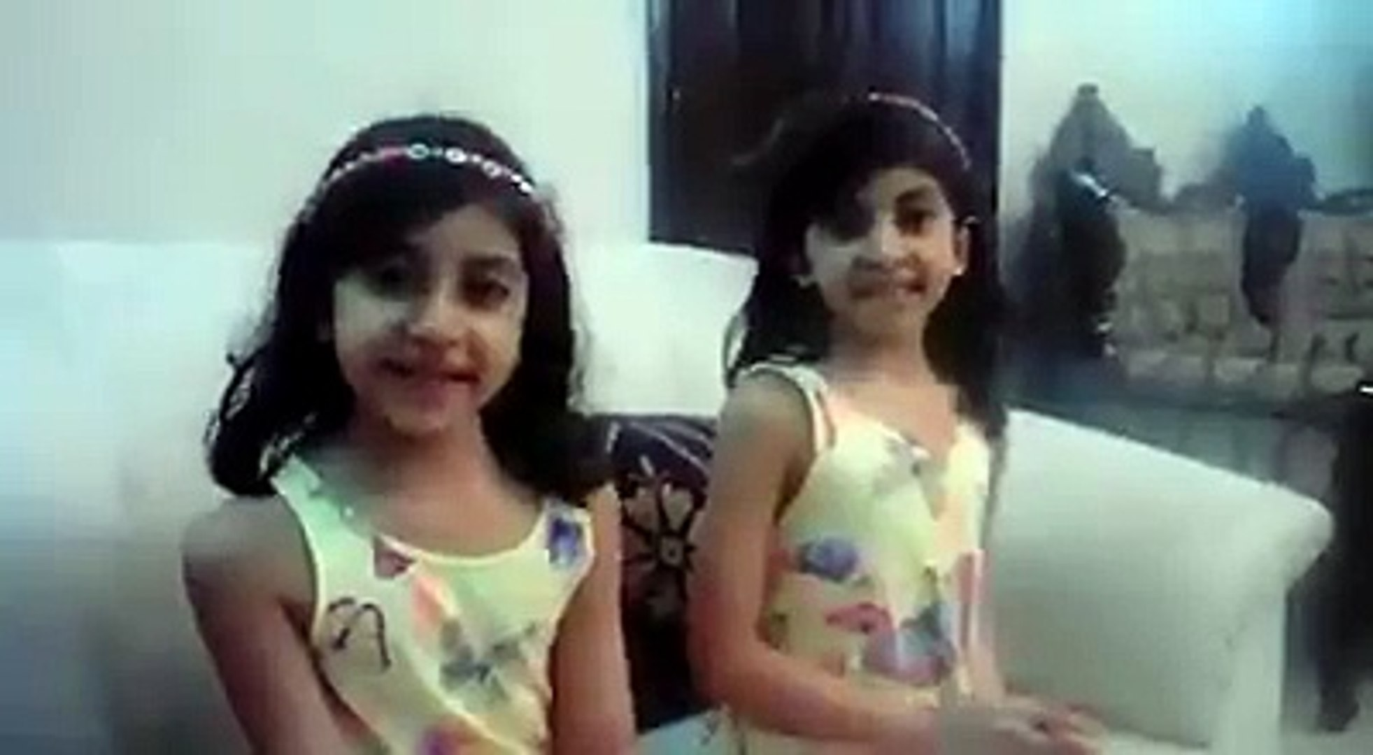 Funny video of cute twins