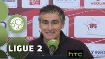 Conférence de presse Dijon FCO - FC Sochaux-Montbéliard (2-2) : Olivier DALL'OGLIO (DFCO) - Albert CARTIER (FCSM) - 2015/2016
