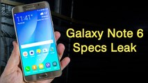 Samsung Galaxy Note 6 Specifications Leak Suggests 6GB of RAM