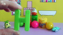 Kinder Surprise Egg Learn-A-Word! Spelling Play-Doh Shapes! Lesson 9 (Teaching Letters Ope