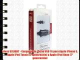 Ideus SCLIGHT - Cargador de coche USB 1A para Apple iPhone 5 Apple iPod Touch (5ª generación)