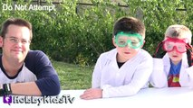 Whats in a Football? Cut Open + Surprise Science Lab Family Fun by HobbyKidsTV