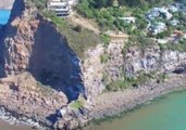 Aerial View Shows Aftermath of Christchurch Earthquake Cliff Collapse