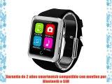 Excelvan U11 - Smartwatch Reloj de Pulsera para Movil Android Ios (Lcd 1.59 Bluetooth SIM Apk