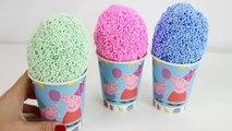 Peppa Pig Foam clay Surprise Eggs Ice Cream cups Disney Princess Thomas Spongebo