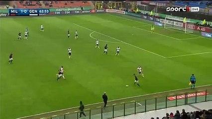 2-0 Keisuke Honda - AC Milan 1-0 Genoa Serie A 14.02.2016 HD
