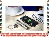 Veho Pebble Smartstick Plus 3000mah Portable Charger VPP-004-AS (3000mah Portable Charger Silver