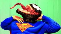 Spiderman vs Superman vs Venom in Real Life! Spiderman & Superman Battle Venom Superhero Movie! (1080p)