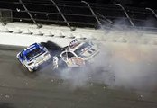 Vickers Big Crash 2016 Nascar Sprint Cup  Daytona Sprint Unlimited