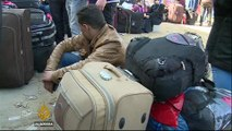 Palestinians flock to Egypt border to leave besieged Gaza