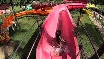 Little Orange Water Slide at Acquamania_The Red Water Slide at Acquamania