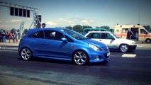 Opel Corsa OPC Vs. Opel Corsa GSI Drag Race HD