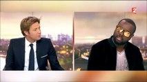 Maitre Gims annonce qu'il va devenir français à Laurent Delahousse - Regardez