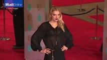 Lily Donaldson stuns in sheer gown on the BAFTAs red carpet