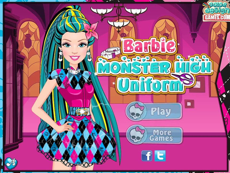 Barbie Monster High Uniform -Best Game for Little Girls