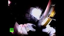 Spacewalk footage: NASA astronauts conduct repair works outside Intl Space Station