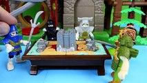 Imaginext Batman Batbot saves Green Lantern from Electro Gotham City Police take Bad Guys