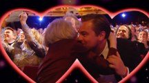 Cérémonie des BAFTA 2016 : Leonardo DiCaprio embrasse Maggie Smith pour la Saint Valentin