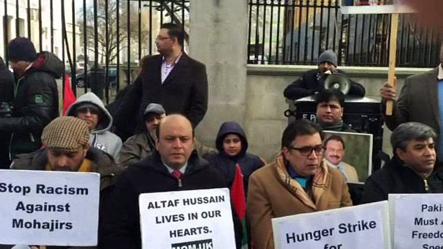 MQM Hunger Strike starts at 10 Downing Streets - Day 1