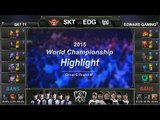 [게임코치] 2015 롤드컵 하이라이트 Group C #07 SKT vs EDG (LoL World Championship 2015 Highlight)