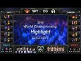 [게임코치] 2015 롤드컵 준결승 하이라이트  SKT vs OG #03 (LoL World Championship 2015 Semi Final Highlight)