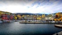 Timelapse du Vieux Port de plaisance de Bastia en Corse Marina 's Bastia Time-lapse from Corsica