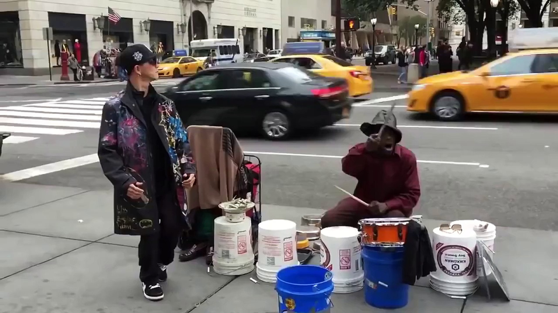 Crazy Dancing to a Street Musician in NYC