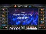 [게임코치] 2015 롤드컵 하이라이트 Group C #01 SKT T1 vs H2K (LoL World Championship 2015 Highlight)