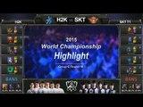 [게임코치] 2015 롤드컵 하이라이트 Group C #10 H2K vs SKT (LoL World Championship 2015 Highlight)