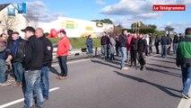 Agriculteurs. La RN165 bloquée à Vannes