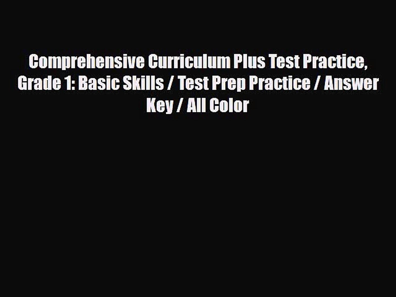 PDF] Comprehensive Curriculum Plus Test Practice Grade 1
