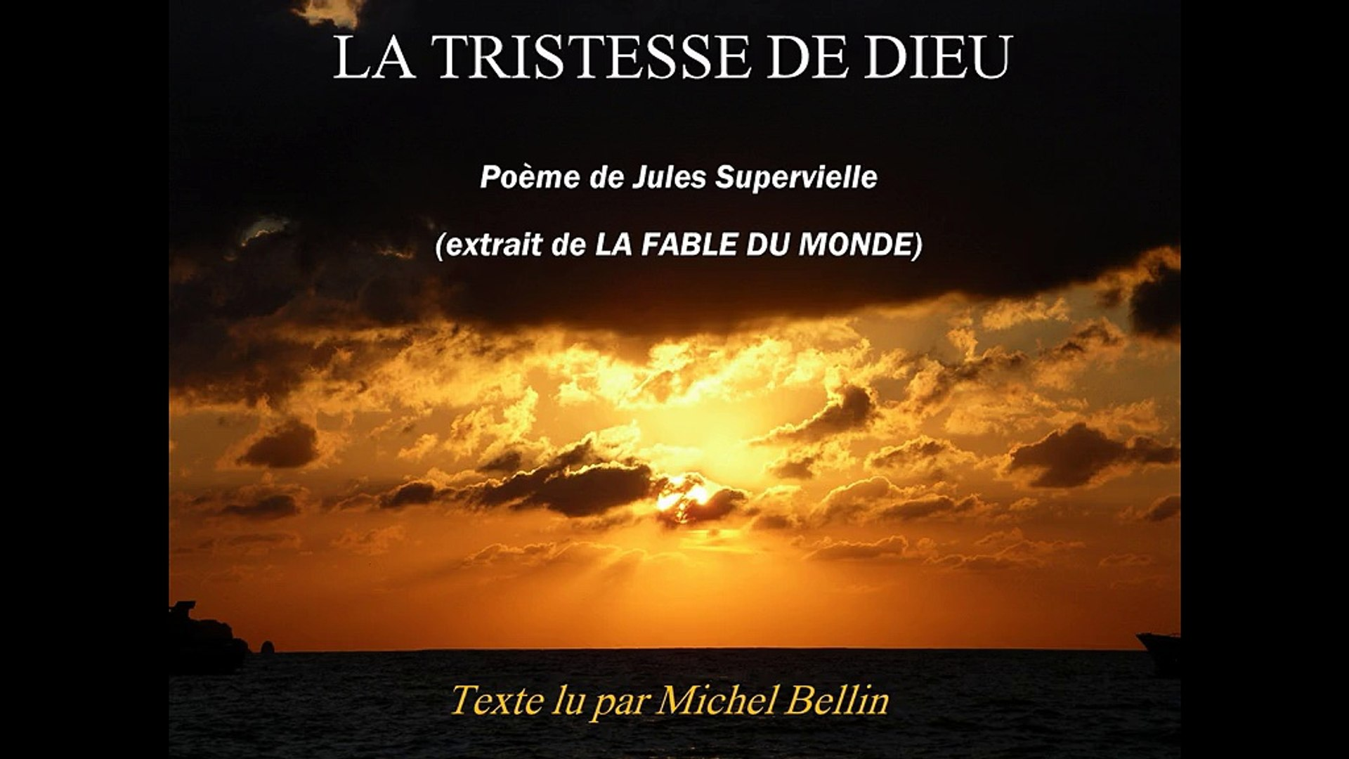 Tristesse De Dieu J Supervielle