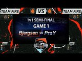 [LOL All-Star 2015] Bjergsen vs PraY (Game1) - 1v1 Tournament : Semi-Final