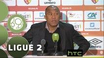 Conférence de presse RC Lens - Valenciennes FC (0-1) : Antoine  KOMBOUARE (RCL) - Faruk HADZIBEGIC (VAFC) - 2015/2016