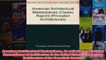 Download PDF  American Architectural Masterpieces An anthology comprising Masterpieces of Architecture FULL FREE