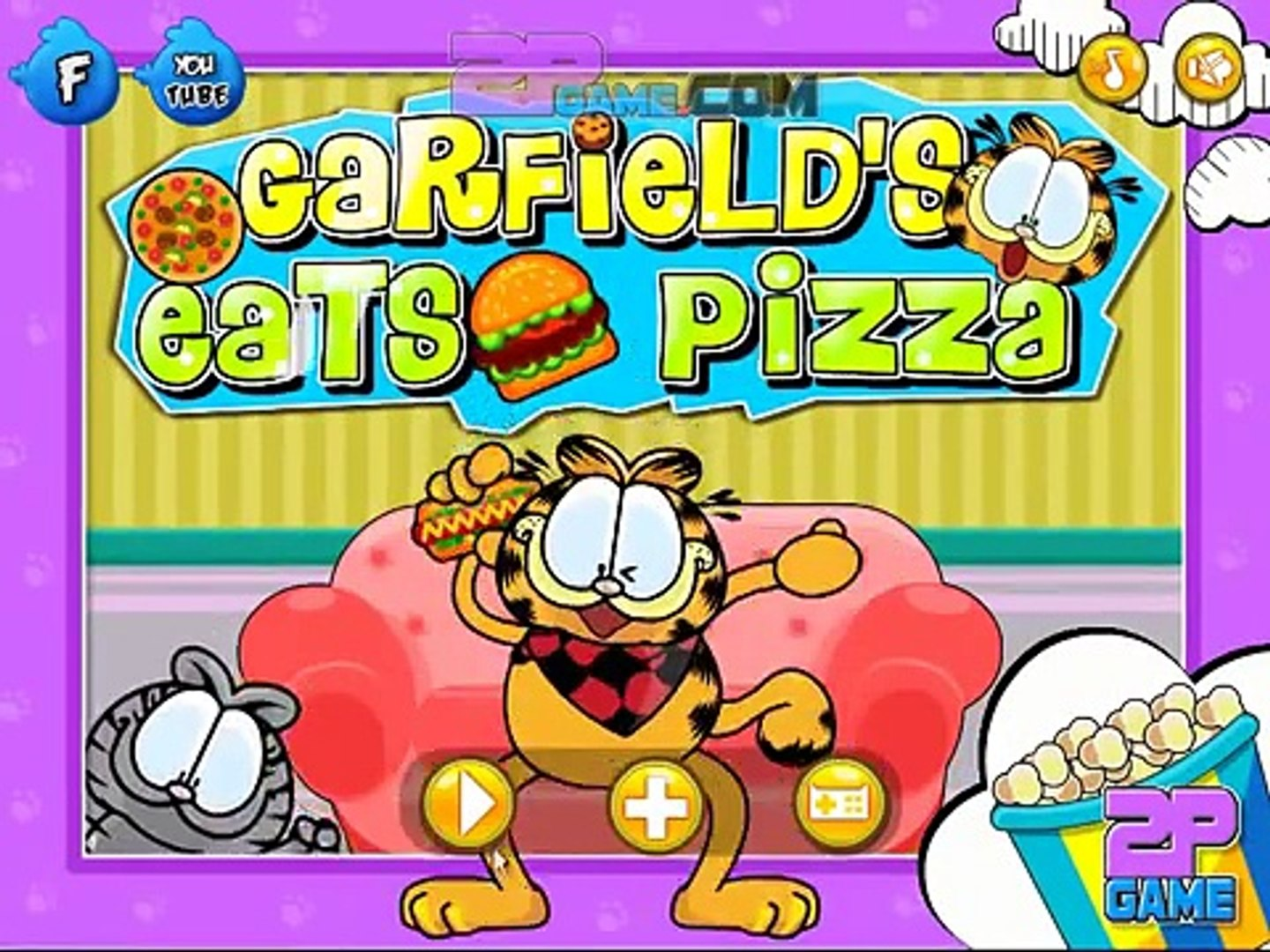 Garfield Eats Pizza Level 1 25 Walkthrough Dailymotion Video