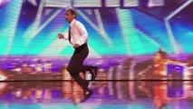 IT Programmer's crazy dancing with David Walliams | Britain's Got Talent 2014