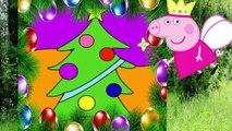 Peppa Pig Свинка Пеппа Новый год. Раскраска Свинка Пеппа наряжает елочку .