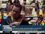 Orquesta Sinfónica Simón Bolívar ofrece concierto por la paz en la ONU