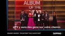 Grammy Awards 2016 : Taylor Swift tacle sévèrement Kanye West ! (Vidéo)