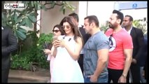 SHOCKING! Salman Khan Kissing A Girl At Arpita Khan's Baby Shower