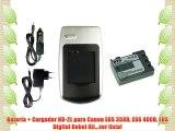 Batería + Cargador NB-2L para Canon EOS 350D EOS 400D EOS Digital Rebel Xti...ver lista!