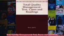 Download PDF  Total Quality Management Text Cases and Readings FULL FREE