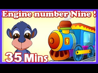 Engine Number Nine Rhymes | Plus Lots More Kids Nursery Rhymes| 35 Minutes Compilation from Magicbox